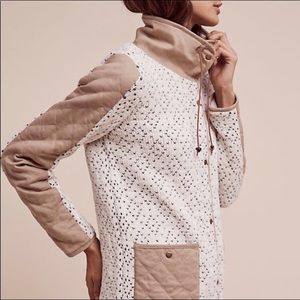 Anthropologie Tan White Coat
